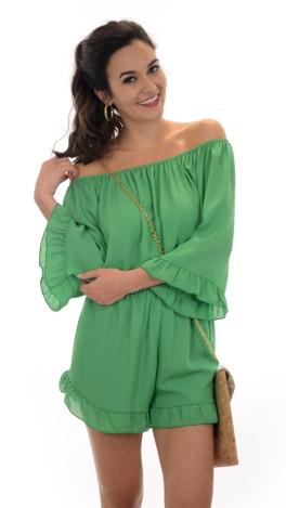 kaley romper, green
